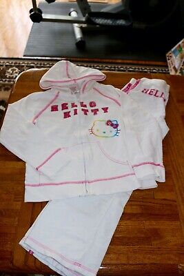 Hello Kitty Girls' 2 Piece Hoodie Pants Cotton Active Set size 8T