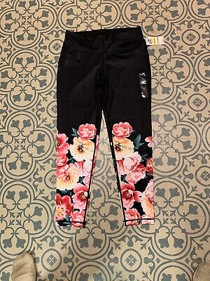 8ea13b8f3cf24 IDEOLOGY PRINTED ANKLE Leggings Noir Size Large NEW with tag ...