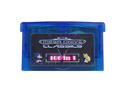 SMS 106 in 1 Games Sega Master System for Game Boy Advance SP NDS Multicart New