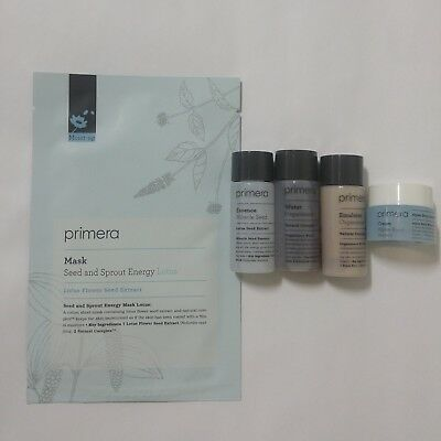 [K-Beauty] Primera Skin Care Basic trial set and Seed Sprout Energy Mask sheet
