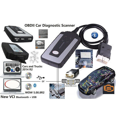 Bluetooth Snooper Diagnostic Tool For WOW Interface With Led obd Cable Car Truck