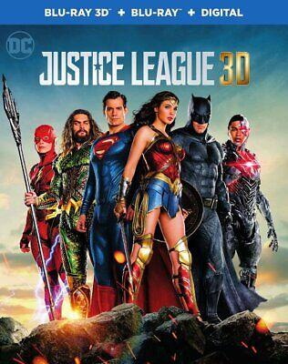 DC Justice League ( Blu-Ray 3D + Blu-Ray + Digital + Trading Cards ) Sealed OOP