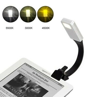 USB Rechargeable Clip On Book Light LED Flexible Reading Lamp For Reader Kindle.