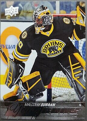 2015-16 UD Young Guns MALCOLM SUBBAN Rookie #211 Boston Bruins Golden Knights