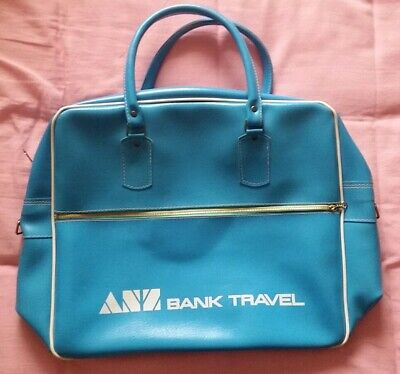 RETRO VINTAGE 1960s 70s TRAVEL BAG CARRY ON- TRAVEL MOD MID CENTURY FLY AVIATION