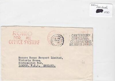 new zealand 1950 stamp cover Ref 8927