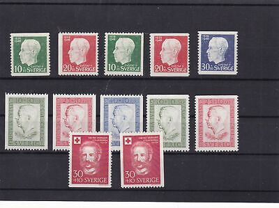 sweden 1948-59 mounted mint+coil stamps  ref 12655