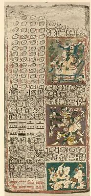 The Dresden Codex On Dvd- Rare Ancient Mayan Manuscript Mysterious Hieroglyphics