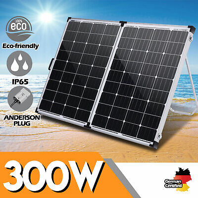 12V 300W Folding Solar Panel 300 Watt Mono Caravan Camping Battery Charging USB