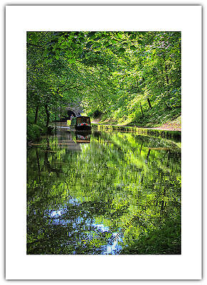 Greetings Card Birthday / Blank Notelet - Canal Narrow Boat Boating Holiday