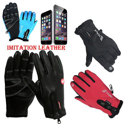 Mens Women Thermal Insulation Touch Screen Winter Warm Gloves For Smartphones