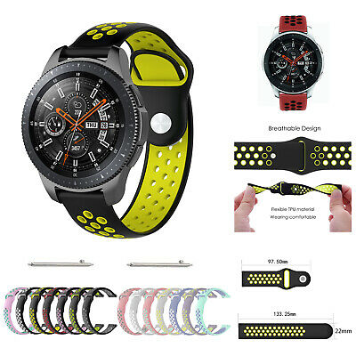 Replacement Silicone Sports Band Strap For Samsung Galaxy Watch 42mm 46mm UK