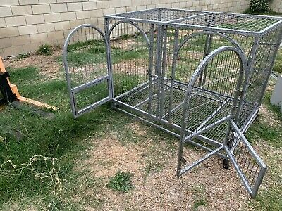 "55"" inch X 37"" inch X 43""inch Double-door Design Dog Crate - Heavy Duty Pet Cage"