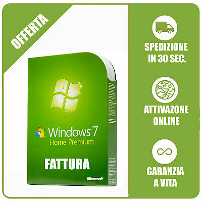 Microsoft Windows 7 Home Premium OEM 32/64 Bit ORIGINALE