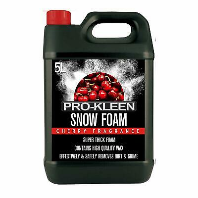 5L of Pro-Kleen Cherry Snow Foam with Wax – Super Thick & Non-Caustic –...