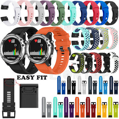 Quick Release Silicone Soft Wrist Band Strap For Garmin Fenix 5 5X 5S Plus Watch