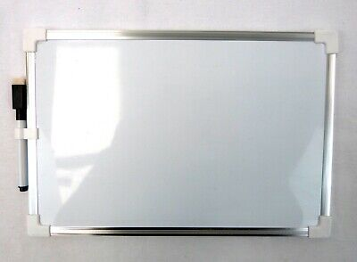 A4 Mini Magnetic Whiteboard Double Sided Aluminium Frame Size 20x30cm