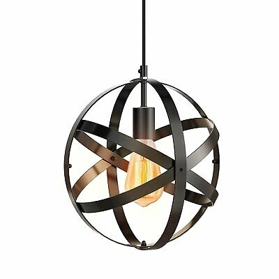Modern Industrial Round Chandelier Light Pendant Ceiling Globe Lighting Fixture