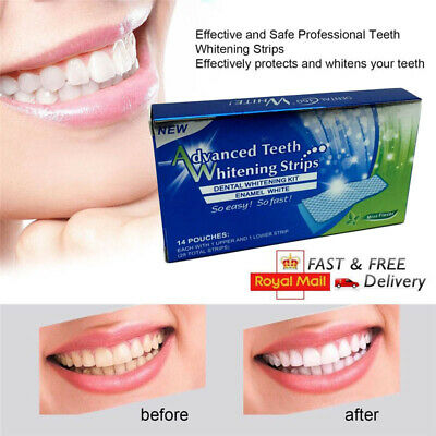 28Pcs Professional Advanced Teeth Whitening Strips Tooth Bleaching White Strip