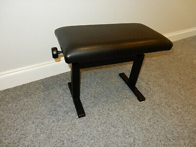 Hyrdralic Piano Stool. High Gloss Black With Black Top
