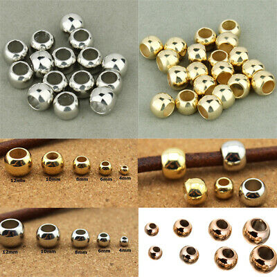 100pcs 4/6/8/10/12mm CCB Spacer Loose Beads With Big Hole DIY Jewelry Making