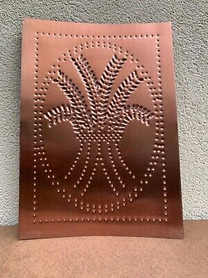 New Country Tin Metal  Punched  WHEAT Cabinet Panel