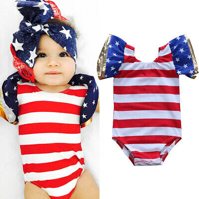 Newborn Cute Baby Boys Girls Fly Sleeve Romper Bodysuit Jumpsuit Outfits Clothes