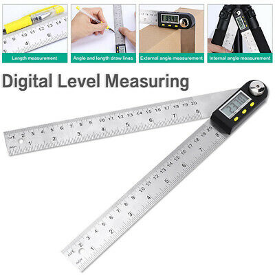 Electronic Digital Angle Finder Gauge Protractor Level Inclinometer 200mm