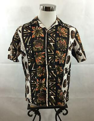 b28345786 Vintage Ui Maikai Shirt Mens Hawaiian Small Hawaii Brown Orange Pocket USA ' 70s