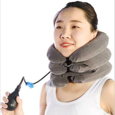 Massager Neck Brace Support Cervical Collar Air Traction Therapy Device Relief