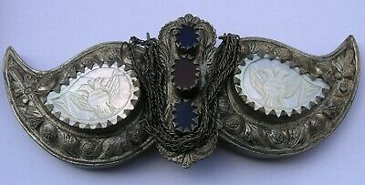 Silver Belt Buckle Handmade . Ottoman Empire, Greek and Balkans. Antique 19c.