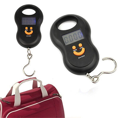 50kg/5g Pocket LCD Digital Fish Hanging Luggage Weight Hook Portable Scale Hot