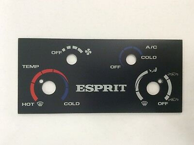 Lotus Esprit heater control graphics panel with A/C