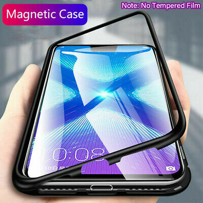 For Samsung A50 M20 A30 Case Magnetic Adsorption Metal Glass Shockproof Cover