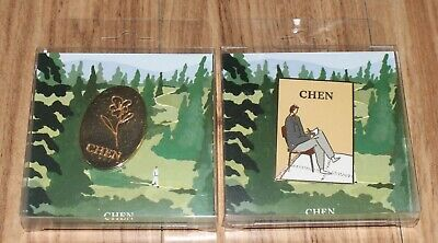 CHEN EXO April, and a flower SMTOWN GIFTSHOP OFFICIAL GOODS BADGE NEW