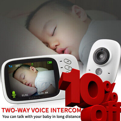 Wireless Video Baby Monitor High Resolution Nanny Security Camera Night Vision
