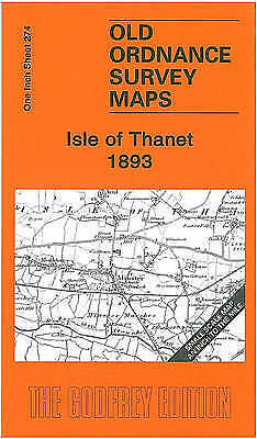 OLD ORDNANCE SURVEY MAP Isle of Thanet 1893: One Inch Sheet 274