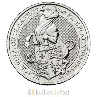 1oz Platinum Coin, Black Bull of Clarence - Queen's Beast 2019