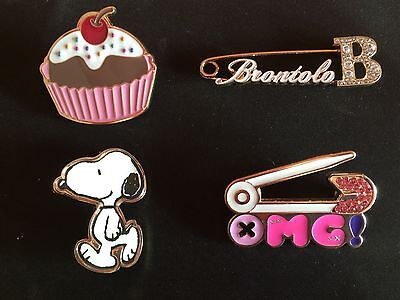4 Spille Fix Design:Snoopy,Hello Kitty,brontolo,dolcetto