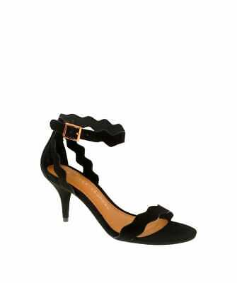 cc5c1dc6d8 Chinese Laundry Womens Rosie Open Toe Ankle Strap Classic Pumps, Black,  Size 7.5