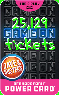 ❗️Dave & Busters Power Card  🎮  15,168 Prize Tickets ~ Points 🎆
