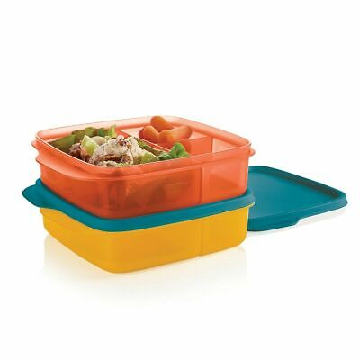 Tupperware Divided Lunch-It Dish Lunch Containers  Set of 2  Brand New