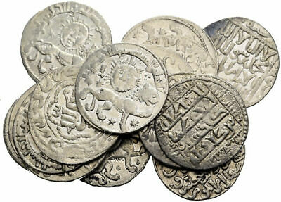 FORVM Lot of 15 Islamic Silver dirhem Coins Includes 9 Sun and Lion Type