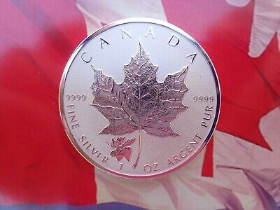 2017 Canadian Maple Leaf coin Reverse Proof MOOSE Privy .9999 fine silver