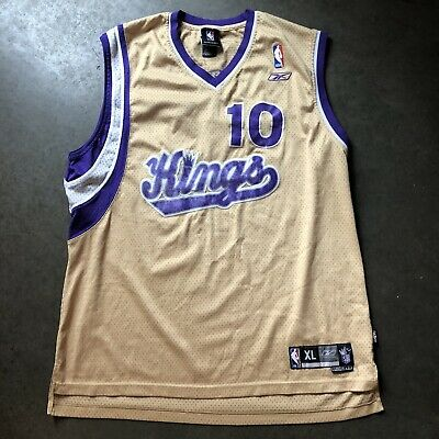 6e1d1f09b3b0 Men s Vintage Reebok Mike Bibby  10 Sacramento Kings Gold Swingman Jersey  Sz XL