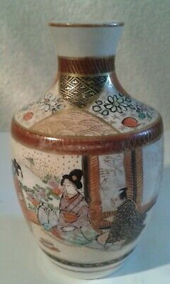 Early 20th. Century, Decorated, Antique Japanese Vase - 9.5 cms. high.