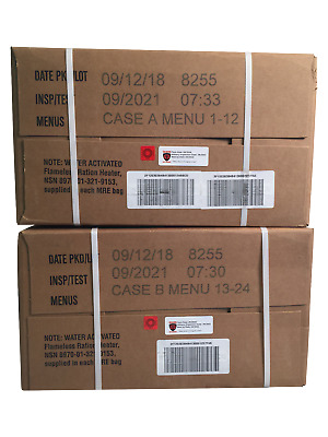 09/2018 Pack, 09/2021 Inspection US Military MRE A and B Case