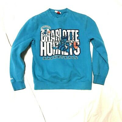 newest 689da d9420 CHARLOTTE HORNETS MITCHELL and & Ness Vintage Sweater Crewneck S teal and  purple
