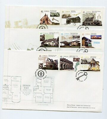 Canada FDC #1755a-i Housing In Canada Architecture 3 Covers 1998 73-3