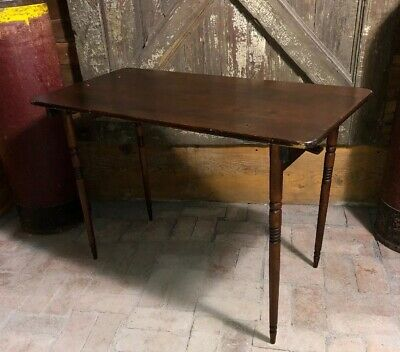 Vintage Primitive Wooden WOOD FOLDING SEWING TABLE Paris country loft Seamstress